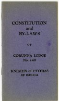 Image of Constitutional By-Laws of Corunna, IN Lodge No. 248, Knights of Pythias. - John Martin Smith Miscellaneous Collection