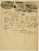 Image of Letter From Milo J. Thomas to the Eclipse Stove Company.  - John Martin Smith Miscellaneous Collection