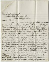 Image of Letter from F. A. Zonker to S. B. Russell of Southern Grocery Co. - John Martin Smith Miscellaneous Collection