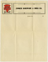 Image of Letterhead of the Zonker Hardware & Drug Co. - John Martin Smith Miscellaneous Collection