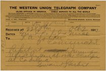 Image of Western Union Telegraph Co. Envelope. - John Martin Smith Miscellaneous Collection