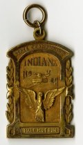 Image of 2014.12.06 - This is a medal awarded to Don Lash in 1932 for the half-mile race at the State Championship for the Indiana High School Athletic Association.
