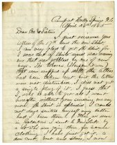 Image of Letter from Wilbur F. Hodge to his brother and sisters  - Extraordinary Hoosiers: John Martin Smith Collection