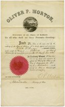 Image of Notary Public Certificate for Chester. P. Hodge - Extraordinary Hoosiers: John Martin Smith Collection