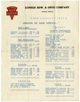 Image of Sale Flyer from Forrest A. Zonker's Hardware and Drug Co. - John Martin Smith Miscellaneous Collection