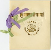 Image of 1911 Commencement Invitation for Spencer Township Schools, DeKalb County, Indiana  - John Martin Smith Miscellaneous Collection