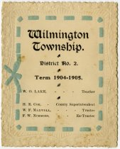 Image of 1904-05 Souvenir for Wilminton Township, District 2 School, DeKalb County, Indiana  - John Martin Smith Miscellaneous Collection