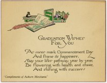 Image of Graduation Wishes from Auburn Merchants, DeKalb County, Indiana