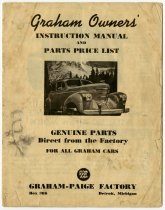 Image of Graham-Paige Automobile Service Department Booklet - John Martin Smith Indiana Imprints Collection