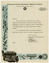 Image of Graham Automobile Service Announcement - John Martin Smith Indiana Imprints Collection