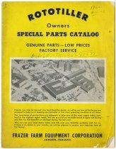 Image of Rototiller Special Parts Book - John Martin Smith Indiana Imprints Collection