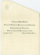 Image of 1914 Commencement for Auburn High School, Auburn, Indiana