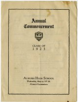 Image of 1925 Auburn High School Commencement, Auburn, Indiana - John Martin Smith Miscellaneous Collection