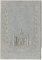Image of 1926 Auburn High School Commencement Invitation, Auburn, Indiana - John Martin Smith Miscellaneous Collection