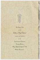 Image of 1928 Auburn High School Commencement Invitation, Auburn, Indiana - John Martin Smith Miscellaneous Collection