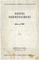 Image of 1946 Auburn High School Commencement Program, Auburn, Indiana - John Martin Smith Miscellaneous Collection