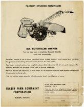 Image of Rototiller Advertisement - John Martin Smith Indiana Imprints Collection