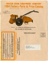 Image of Rototiller Catalog of Spare Parts - John Martin Smith Indiana Imprints Collection