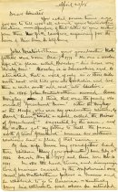 Image of Letter on Winterbottom Family History - Extraordinary Hoosiers: John Martin Smith Collection