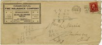 Image of Farmers' Mutual Fire Insurance Co. Envelope. - John Martin Smith Miscellaneous Collection