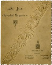 Image of 1893-94 St. Joe Graded Schools Enrollment List, DeKalb County, Indiana - John Martin Smith Miscellaneous Collection