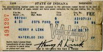 Image of 1940 Vehicle Registration - John Martin Smith Miscellaneous Collection