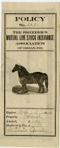 Image of Breeder's Livestock Insurance Assoc. Policy. - John Martin Smith Miscellaneous Collection
