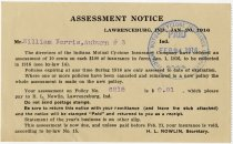 Image of An Indiana Mutual Cyclone Insurance Company Assessment. - John Martin Smith Miscellaneous Collection