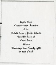 Image of Eighth Grade Commencement, DeKalb County, Indiana - John Martin Smith Miscellaneous Collection