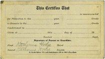 Image of 1910-11 Report Card for Auburn Schools, Auburn, Indiana, DeKalb County, Indiana - John Martin Smith Miscellaneous Collection