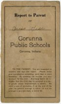 Image of Report Card for Corunna Public Schools, DeKalb County, Indiana - John Martin Smith Miscellaneous Collection