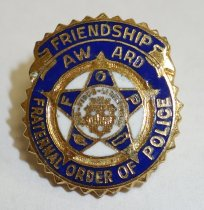 Image of 2014.12.06 - This is Don Lash's Friendship Award pin from the Fraternal Order of Police.