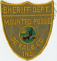 Image of DeKalb County, Indiana Sheriff Dept. Mounted Posse Patch. - John Martin Smith Miscellaneous Collection