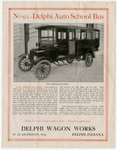 Image of 1918-1919 Delphi Wagon Works School Bus, Delphi, Indiana - John Martin Smith Miscellaneous Collection