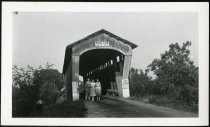 Image of Photograph of Houlton Covered Bridge. - John Martin Smith Miscellaneous Collection