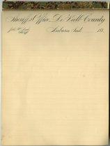 Image of DeKalb County Sheriff's Letterhead - John Martin Smith Miscellaneous Collection