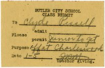 Image of 1935 School Bus Report 1936 Note for Butler, Indiana - John Martin Smith Miscellaneous Collection
