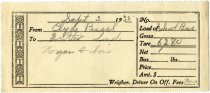 Image of Weigh Station Ticket for School bus, Butler, Indiana - John Martin Smith Miscellaneous Collection