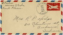 Image of Envelope addressed to Mrs. R.P. Hodge - Extraordinary Hoosiers: John Martin Smith Collection