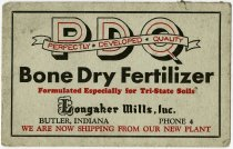 Image of Advertising from Longaker Mills Fertilezer Plant, Butler, Dekalb County, Indiana - John Martin Smith Miscellaneous Collection