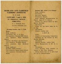 Image of 1926 Farmers Institute, Corunna, DeKalb County, Indiana - John Martin Smith Miscellaneous Collection