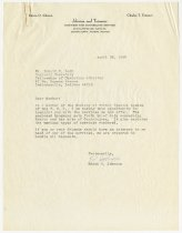 Image of Letter from Edwin O. Johnson to Donald R. Lash, dated April 26, 1968. - Extraordinary Hoosiers: Don Lash Collection