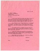 Image of Letter from Don Lash to Mr. Thomas S. Hopkins, dated April 22, 1968. - Extraordinary Hoosiers: Don Lash Collection