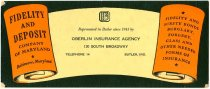 Image of Oberlin Insurance Agency, Butler, IN. - John Martin Smith Miscellaneous Collection
