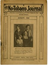 """Image of L. H. Higley Publication of """"The No-Tobacco Journal. - John Martin Smith Miscellaneous Collection"""