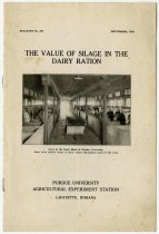 Image of The Value of Silage in the Dairy Ration, 1925 Purdue University Bulletin No. 297 - John Martin Smith Miscellaneous Collection