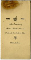 Image of Order of Eastern Star 75th Anniversary Program. - John Martin Smith Miscellaneous Collection