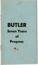 Image of Butler, Seven Years of Progress Booklet. - John Martin Smith Miscellaneous Collection