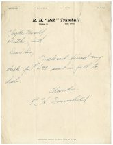 Image of R. H. Trumbull Letter to Clyde Pessell. - John Martin Smith Miscellaneous Collection
