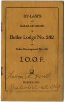 Image of By-laws and Rules of Order for Butler Lodge No. 282 and the Encampment No. 160 I.O.O.F. - John Martin Smith Miscellaneous Collection